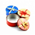 Sale  Round Colorful Tin Packaging Boxes Accept Customized Logo
