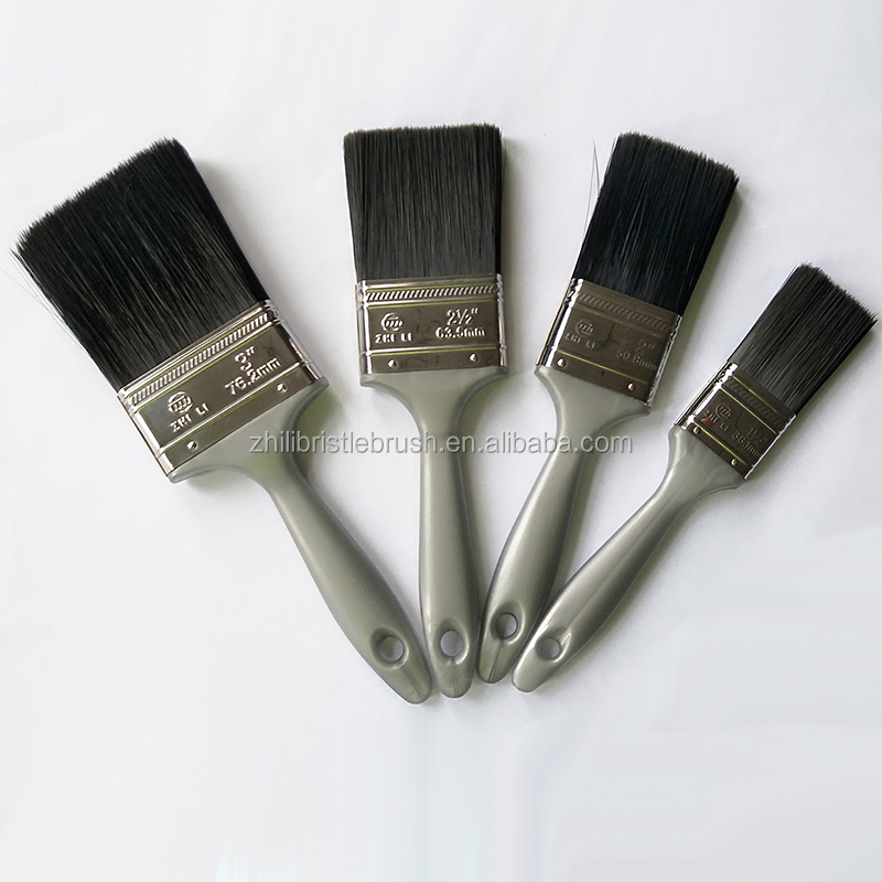 Newest Design China Factory Wholesale Price Natural Bristle Plastic Handle Synthetic Brush Paint Brush