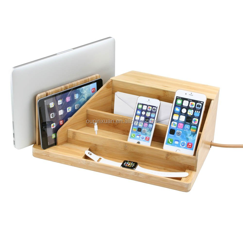 New Design Charging Station And Dock Bamboo All-in-one