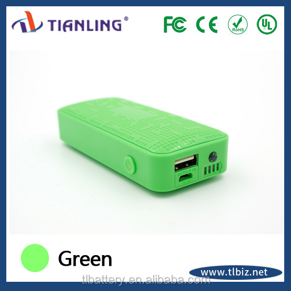 china supplier 5200mah rechargeable external battery charger mobile phone with led light