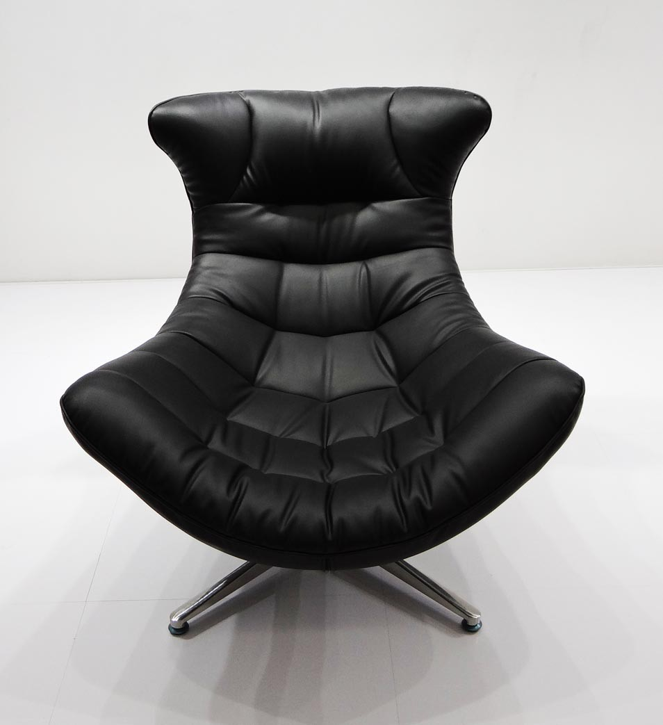 CH-005# Fashion chair modern lounge chair with leather footstool