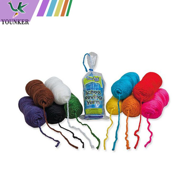 Multi-color 100% Acrylic Jumbo Weight Yarn For Knitting DIY