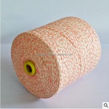 High quality space dyed cotton/polyester blended 55/45 flat belt yarn 3.8mm