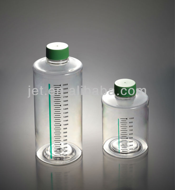 Surface Treated Roller Bottles 1000ml/2000ml with standard cap/vent cap