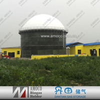 septic tank widely used in school toilet and farm waste water treatment with biogas storage bag