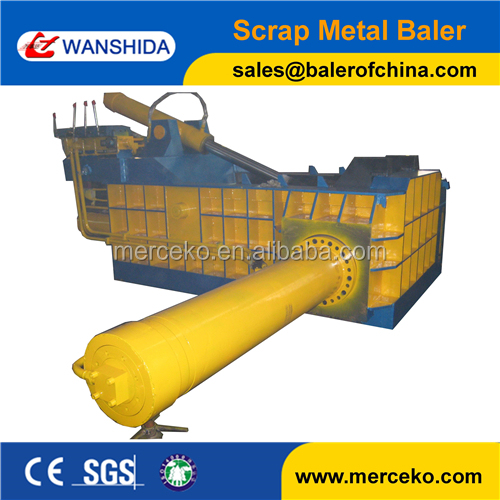 High efficiency non ferrous metal baling press