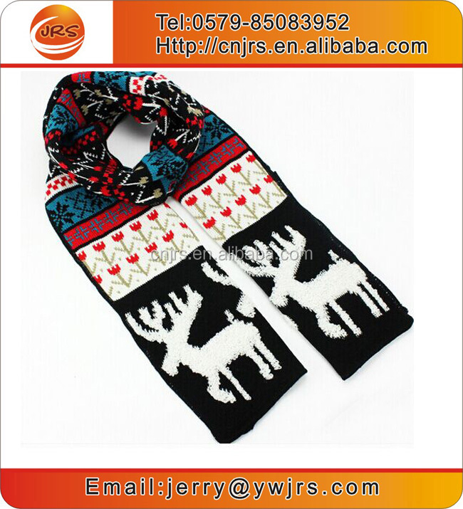 Hot sell new deisgn custom winter knit scarves for christmas