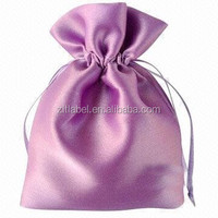 2016 Hot Sale small Pink Satin Cotton Gift Bag with Good Quality Best Price