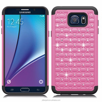Wholesale Colorful Bling Bling Studded Diamond Cases Defender Soft Hard Armor Case Back Cover for Samsung Galaxy Note 3