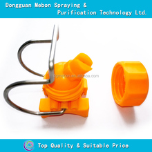 Pipe clamp nozzle with flat fan spray tip,clamp plastic nozzles with adjustable ball