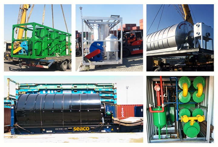 European Standard 10 Tons Waste Tire Pyrolysis Machine Plant To Diesel With Emission Report