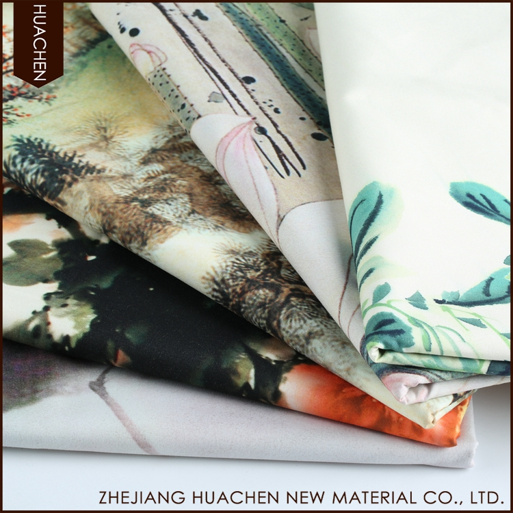 OEM service eco-friendly polyester blackout digital printing fabrics for curtain