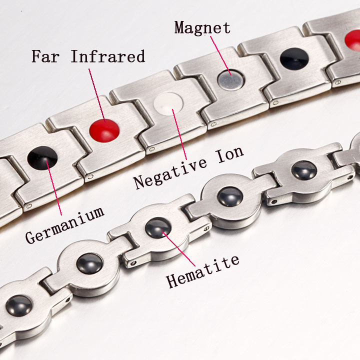 2017 Infrared Hematite Magnet Ion Germanium Titanium Bracelet Men