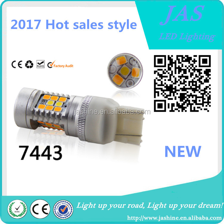2017Hot sales dual color switchback led 1157 7443 3157 led bulb
