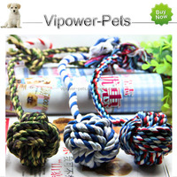 Direct Wholesale Pet Toys cotton ball Chew toys knot ball for Small dog / Cat Free shipping