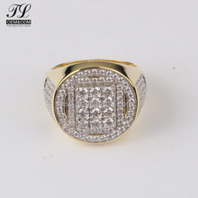 Bulk custom hip hop solid 18k gold palted ring mounting+best deals on gold jewelry
