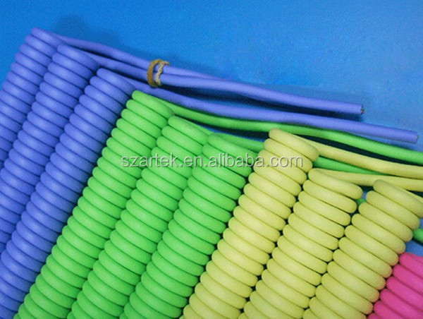 telephone spring cord 11*0.16 6C 4C Colorful PVC PU Jacket