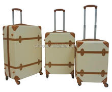 Vintage Style ABS Trolley Luggage Sets With Cheep Price