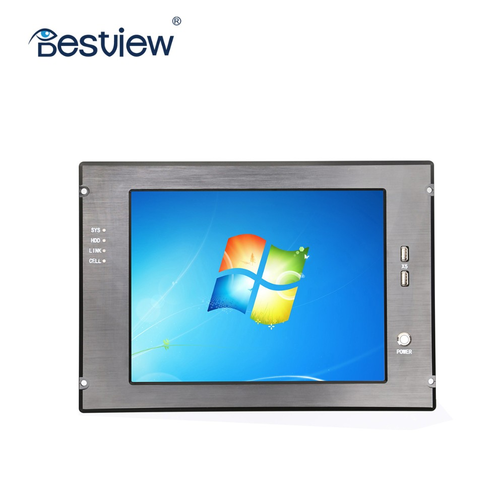 "15"" flush mount heavy duty industrial using built in battery touch panel PC all in one"