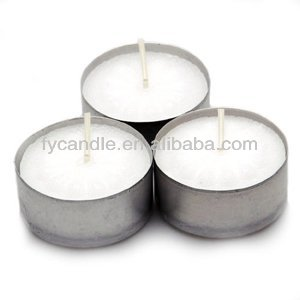 White Pressed Tealight Candle/paraffin wax tea light