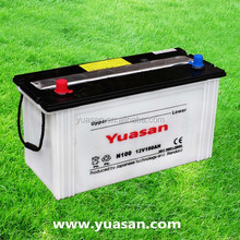 Yuasan High quality 12V Dry Charge Car Battery - 12V100AH - N100