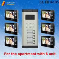 High quality video door phone with rain cover door phone 1VS 3-12 multi apartment video door phone intercom