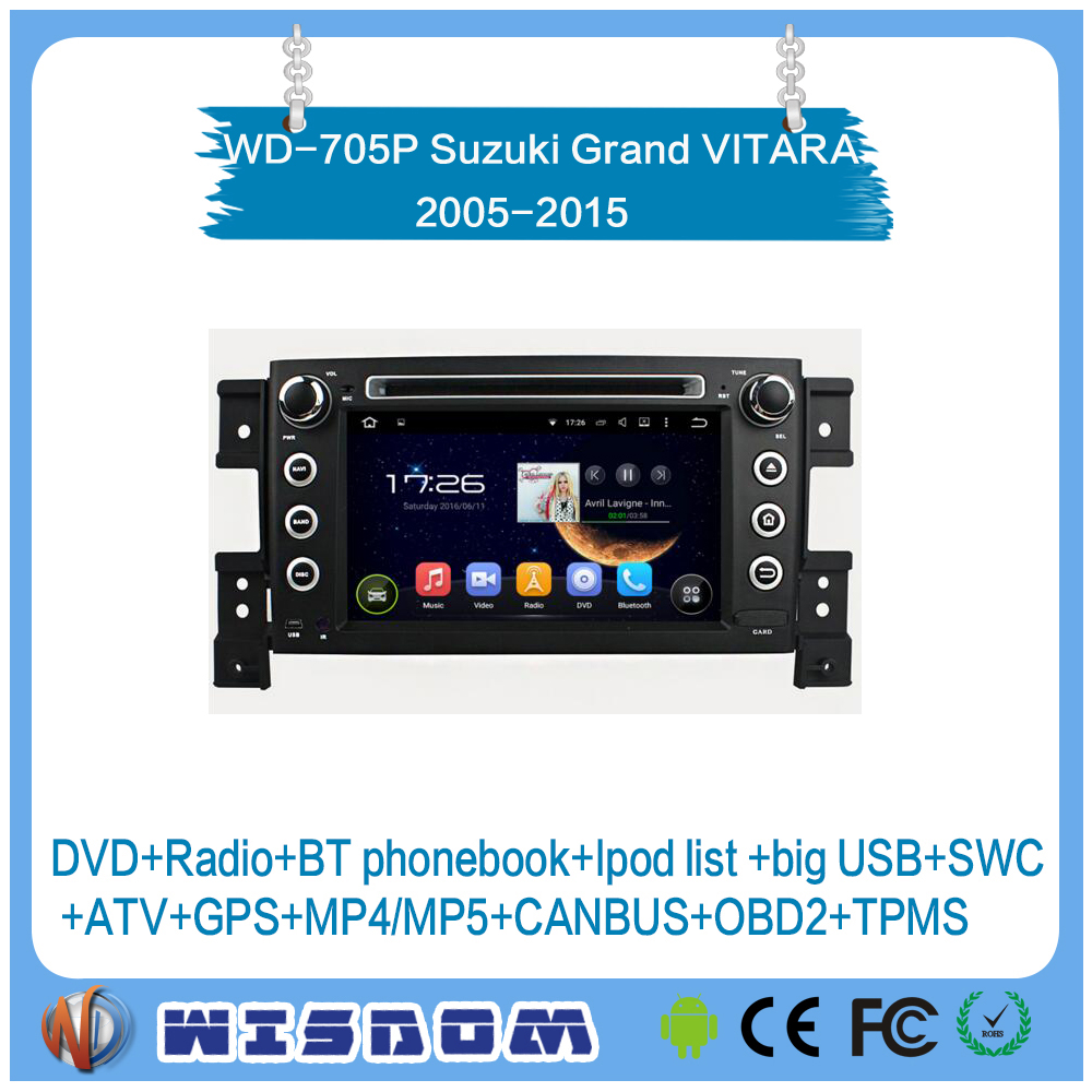 car multimedia player for SUZUKI GRAND VITARA 2005 2006 2007 2008 2009 2010 2011 2012 2013 2014 2015 dvd player gps navigation