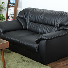 2017 Gold Supplier black leather sofa bed