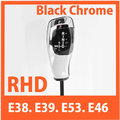 for BMW E38 E39 E53 E46 Shift lever Knob (non LED) 2205967Z-R-B39 Gear knob Black Chrome RHD
