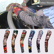 1pc multi-colors Superfine fiber elastic Fake temporary tattoo sleeve designs body Arm stockings tatoo for cool men women