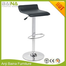 Popular PVC cheap used bar stools backless height adjustable