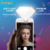 Icanany Luxury Diamond selfie light with lens for cell phone led usb fill light 9 levels 3 brightness wide angle fisheye lens
