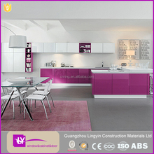 hot sell color costumized high gloss lacquer wooden kitchen cabinet made in Foshan factory