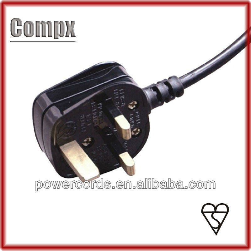13A 250V UK power cord with BS plug