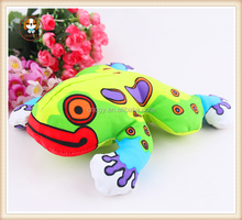 Small frog bite resistant canvas jungle cat toy molar toys, dog toys