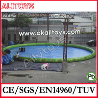 Round shaped above ground swimming pool with PVC liner