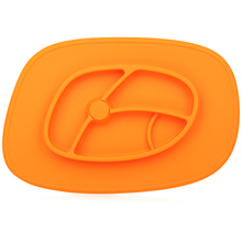 Hot sale adsorbable kids bpa free silicone themal food divider plate