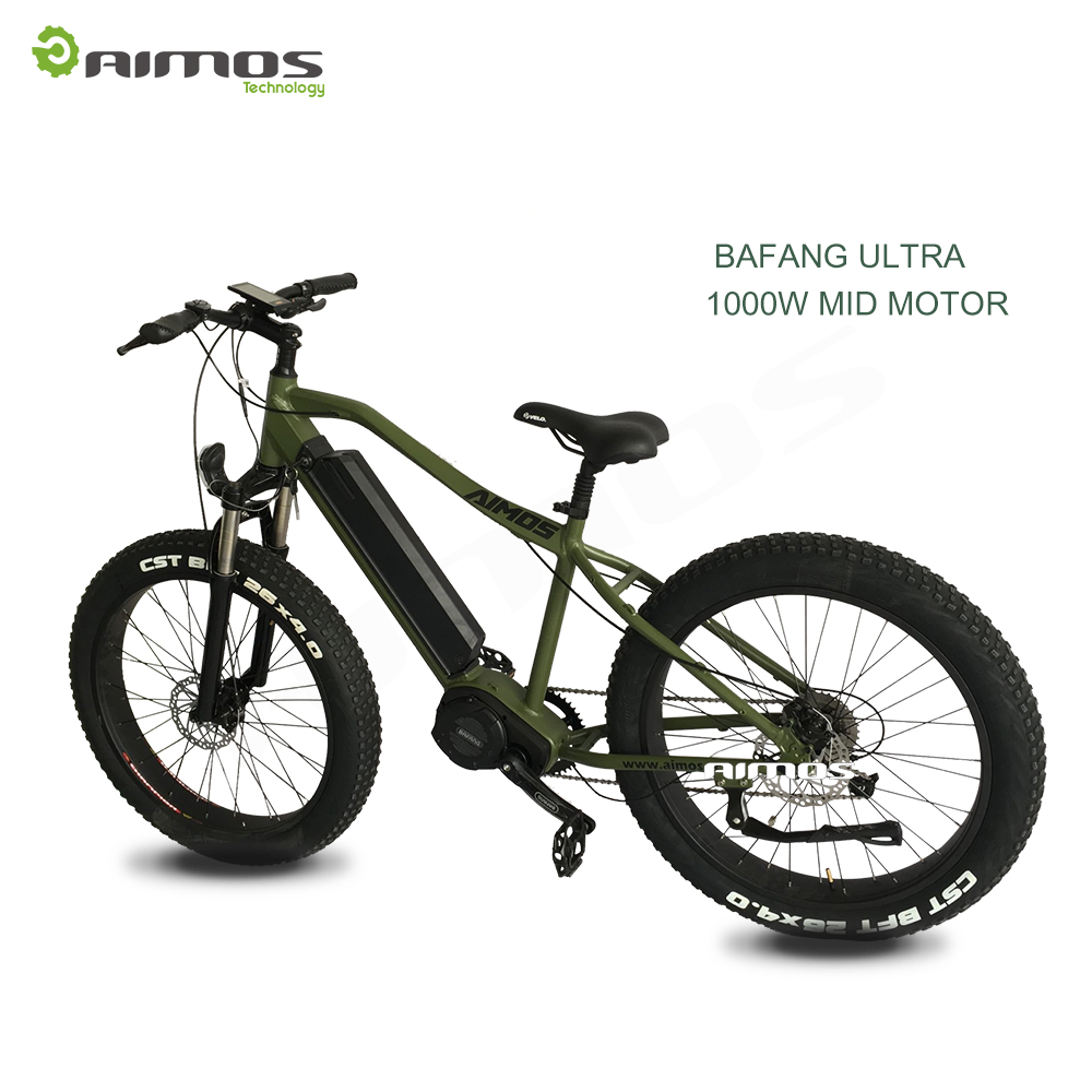 1000w gear motor fat tire sand electric bike with Ultra mid system