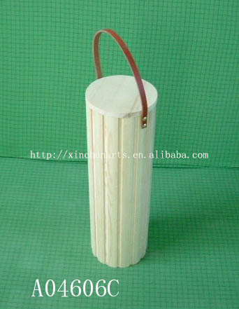 The wooden drum shape box,wooden bucket shape with a handle
