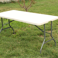 Best Folding Table Portable Plastic Indoor Outdoor Picnic Party Dining Camp Tables