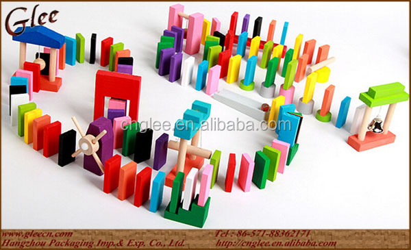 120pcs Adult Wooden Domino Racing Building block toy