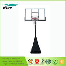 Screw jack lift adjustment mechnism outdoor deluxe portable 10' basketball stand