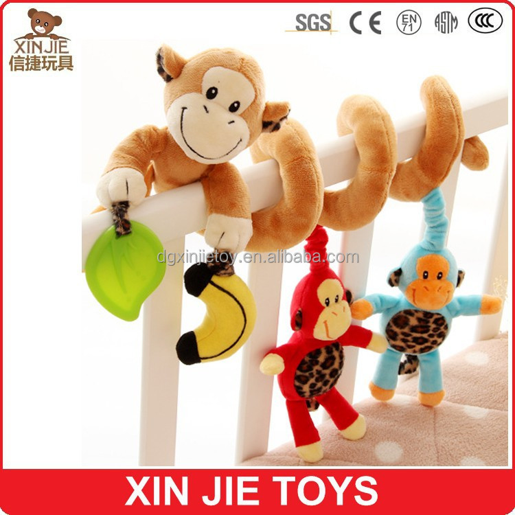 wholesale cute plush baby bed <strong>monkey</strong> toy for baby