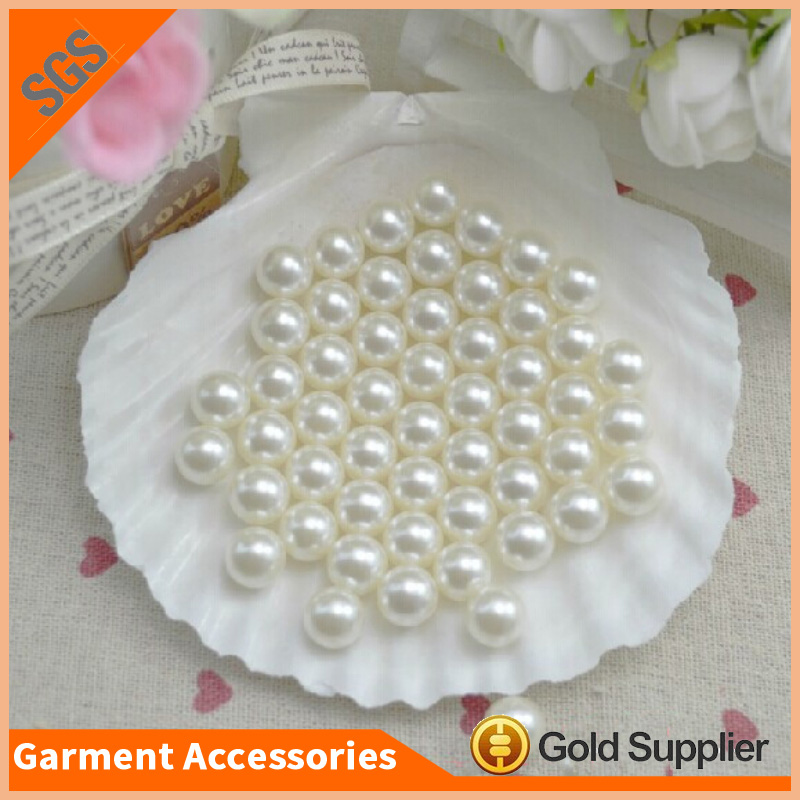 High Shiny 10mm Round ABS Imitation Pearls Beads Without Hole For Belt