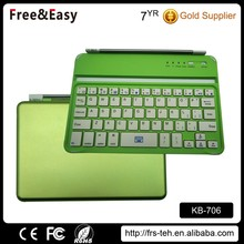 Green Shell White Keycaps Portable Tiny Bluetooth Keyboard for Ipad Smartphone