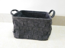 Popular customize square handmade woven firewood fabric felt basket storage basket
