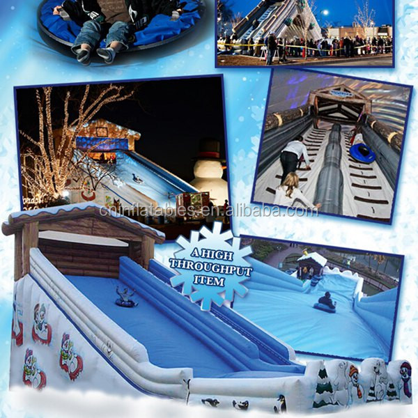 huge inflatable taboggan slide/mobile snow tube slide