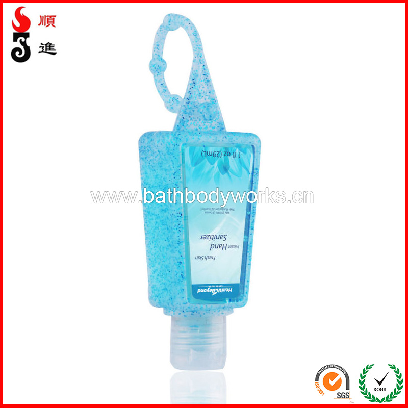 Factory promotion cheap cleaner hand sanitizer silicon gel holders 30ml hand sanitizer bottle silicone hand sanitizer container