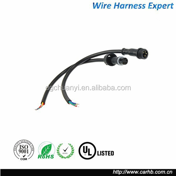 ip68 waterproof 2 pin 3 pin 4 pin power cable connector