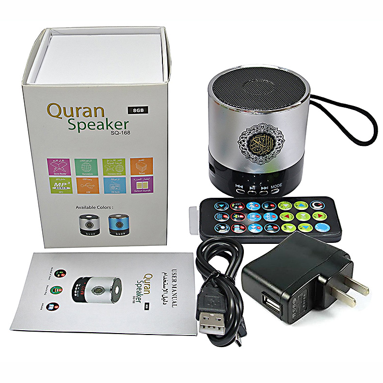 SQ-168 digital display wireless mini speaker with manual for language translation